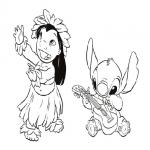 Lilo et Stitch dessin à colorier