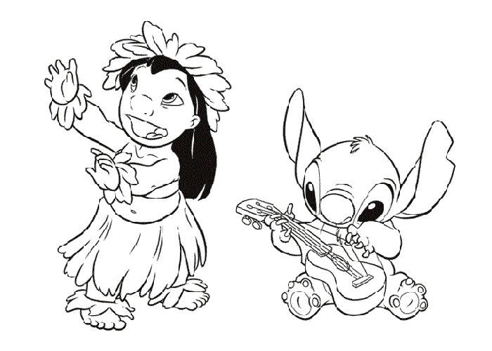 Coloriage Lilo et Stitch à imprimer