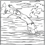 Natation dans un lac