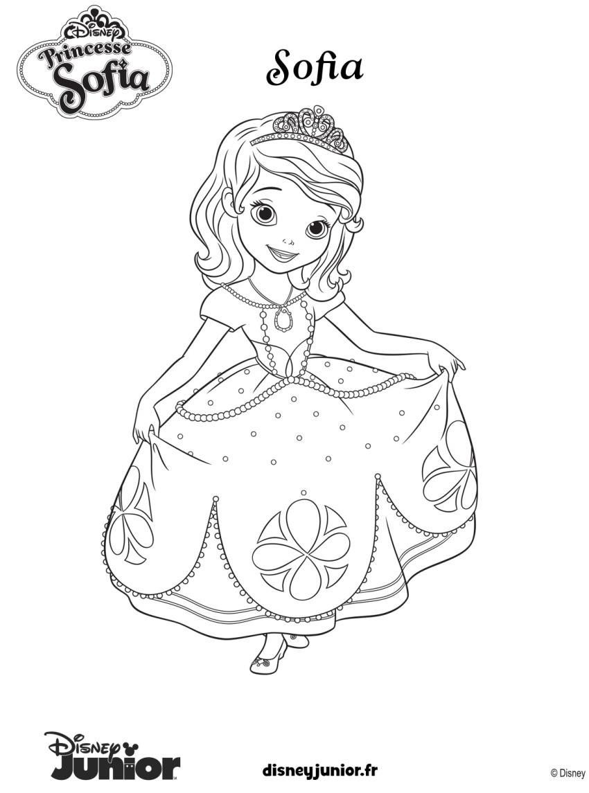 Coloriage Princesse Sofia Disney A Imprimer Sur Coloriages Info