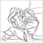 Raiponce et Flynn dessin à colorier