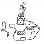 Sous-marin dessin à colorier