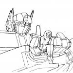 Coloriage Transformers avec une fille