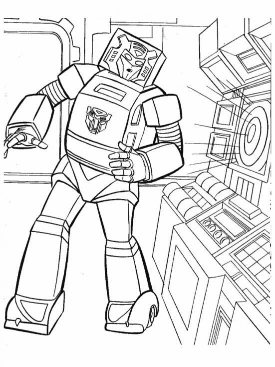Coloriage Transformers robot à imprimer