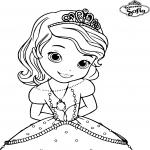 Coloriage Sofia princesse