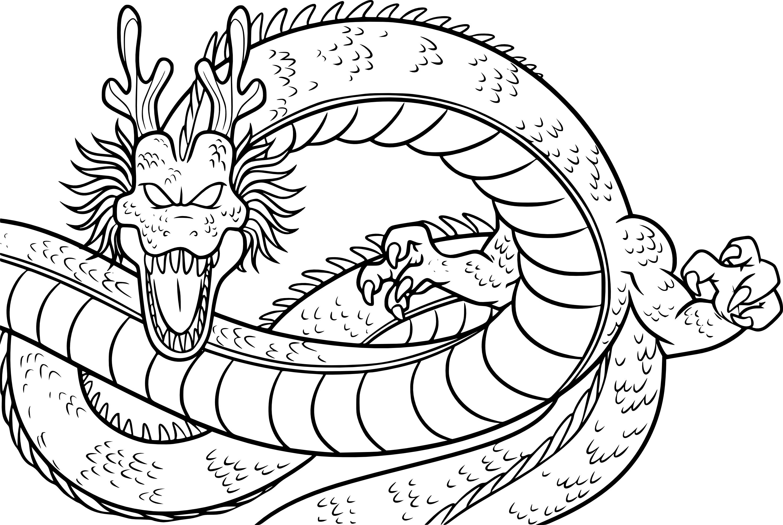 Coloriage Dragon De Dragon Ball Z A Imprimer Sur Coloriages Info