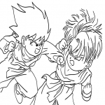 Coloriage Sangohan et Trunks