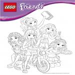 Coloriage Lego Friends
