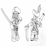 Coloriage Lego pirate