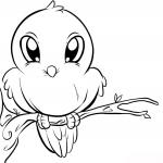 Coloriage Petit oiseau mignon