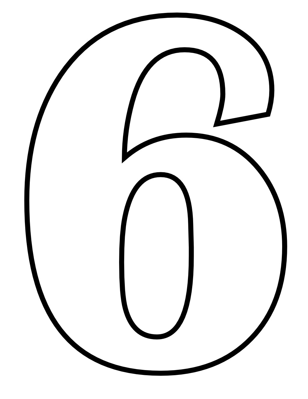 Chiffre 6 on alphabet coloring pages color by letter e