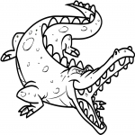 Coloriage Méchant crocodile