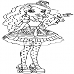 Coloriage Fille Ever After High