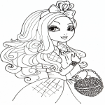 Coloriage Poupée Ever After High