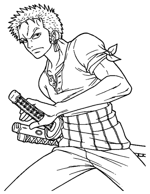 Coloriage zoro one piece imprimer sur coloriages info for One piece dibujos