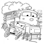 Coloriage Cars Red