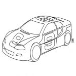 Coloriage Voiture Tuning