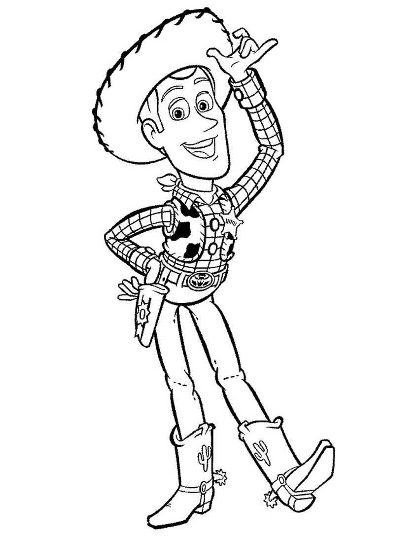 Coloriage Woody Toy Story imprimer