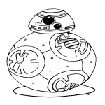 Coloriage BB-8 Star Wars