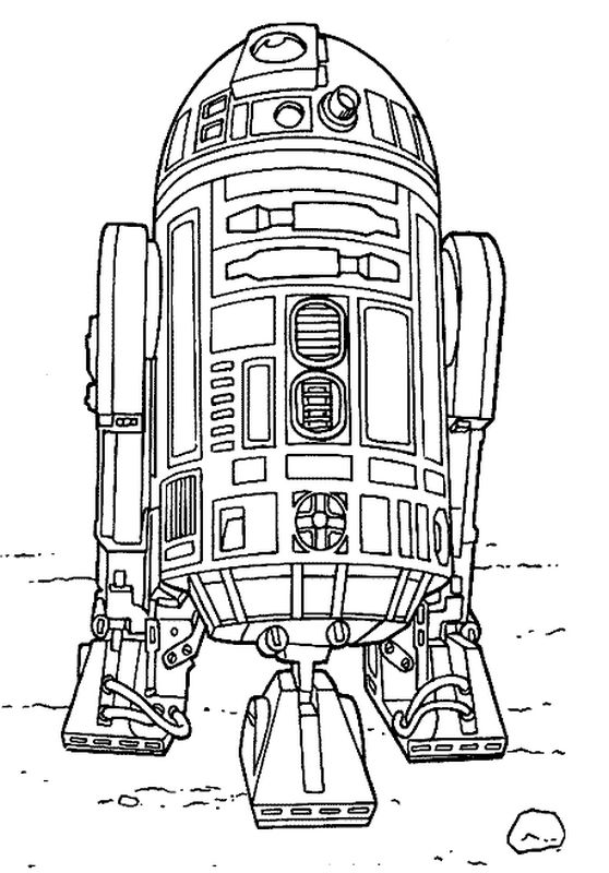 Coloriage Star Wars R2D2 à imprimer sur COLORIAGES .info Lego Star Wars R2d2 Coloring Pages