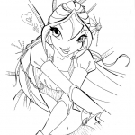 Coloriage Winx Bloom Enchantix