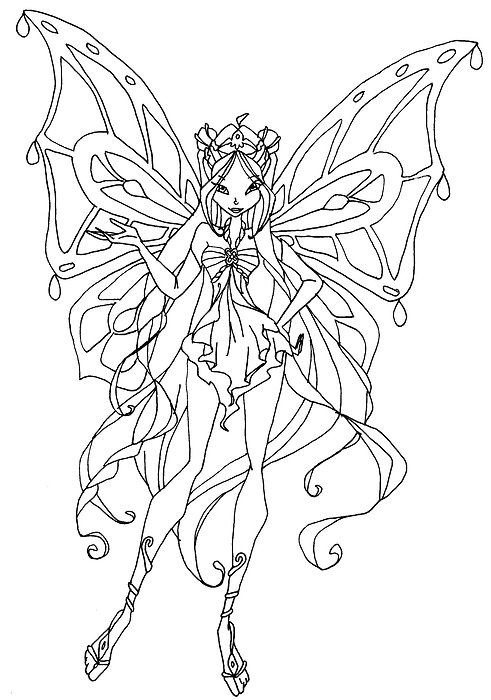 winx club flora coloring pages coloriage