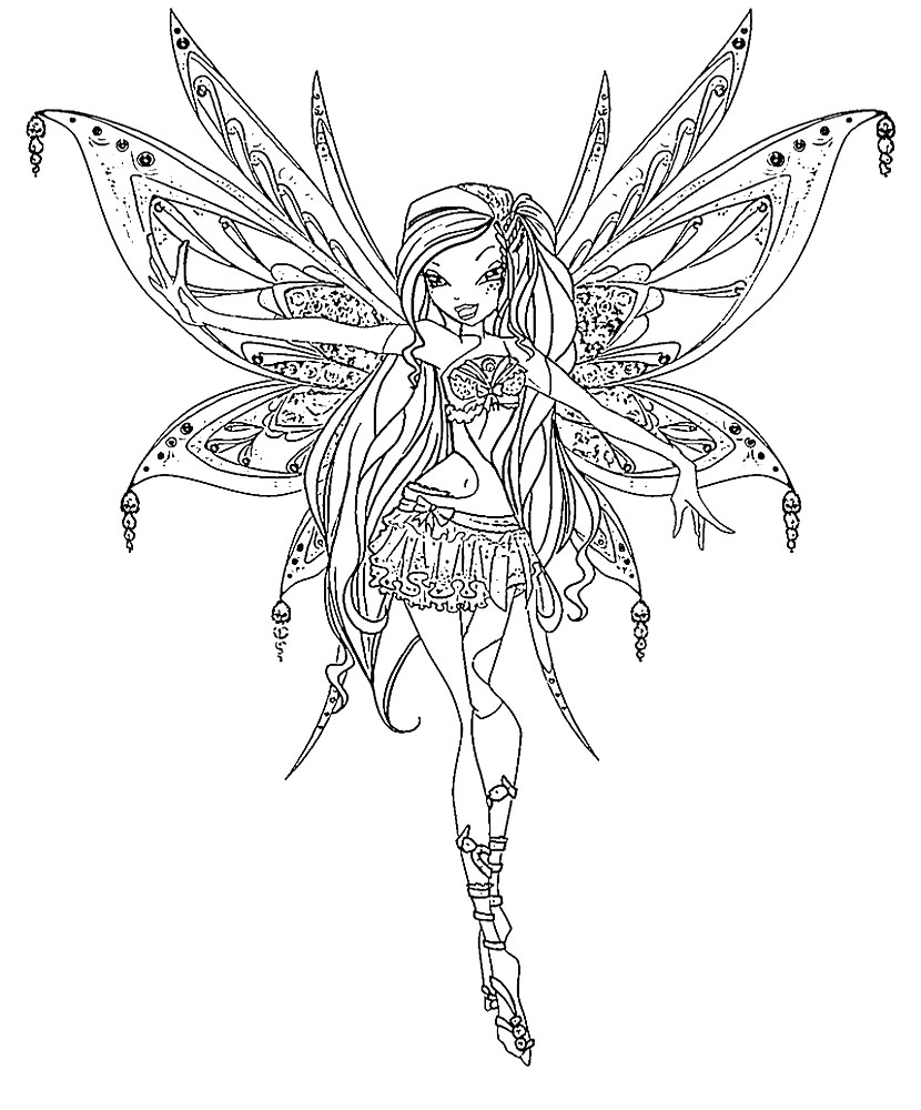 Winx Club Musa Believix Coloring Pages Sketch Coloring Page