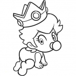 Coloriage Bébé princesse Peach