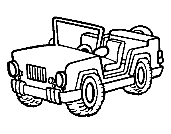Coloriage jeep imprimer sur coloriages info for Foto cars da stampare