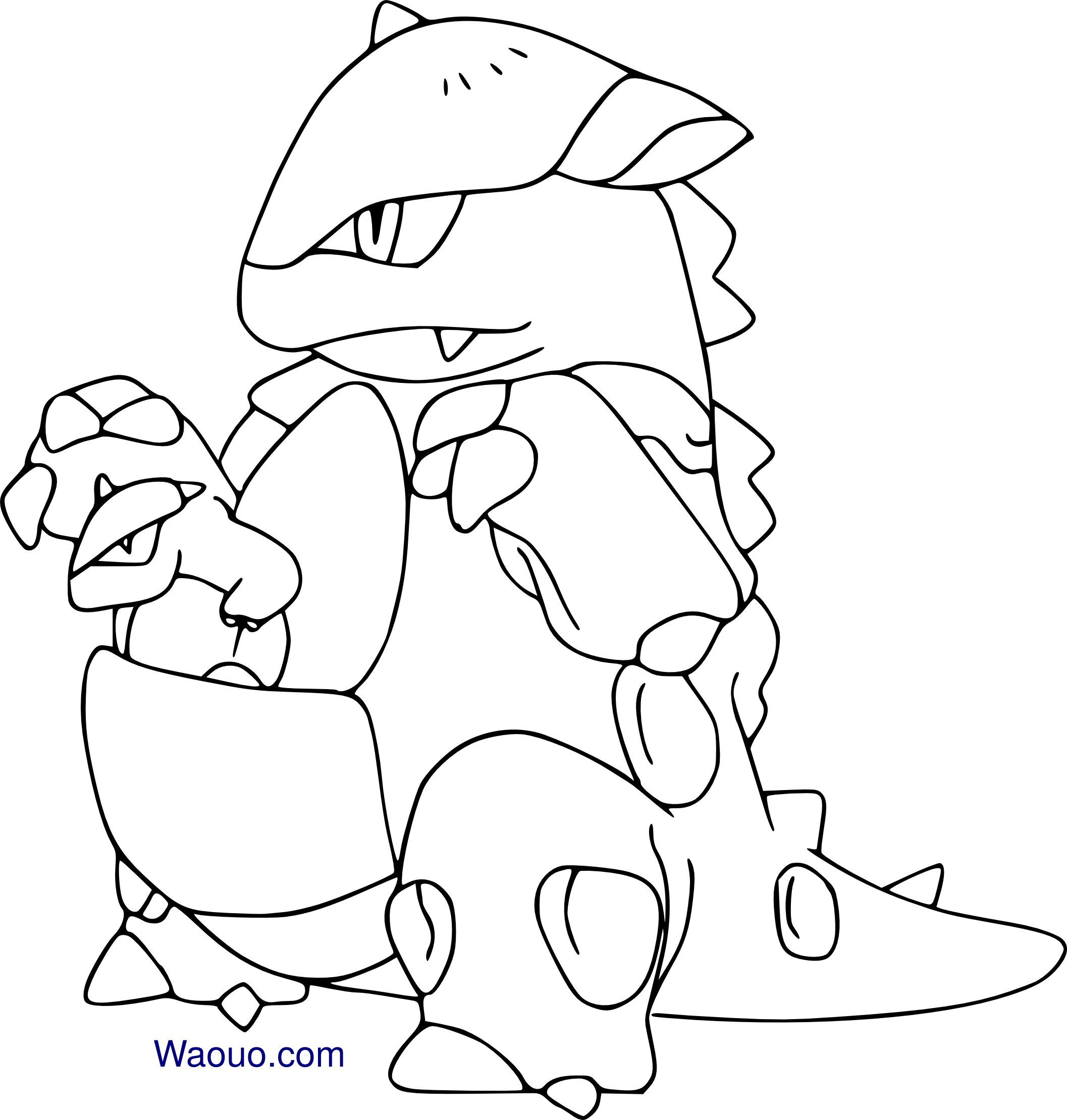 Coloriage m ga kangourex pokemon imprimer sur coloriages - Coloriage pokemon dracaufeu ...