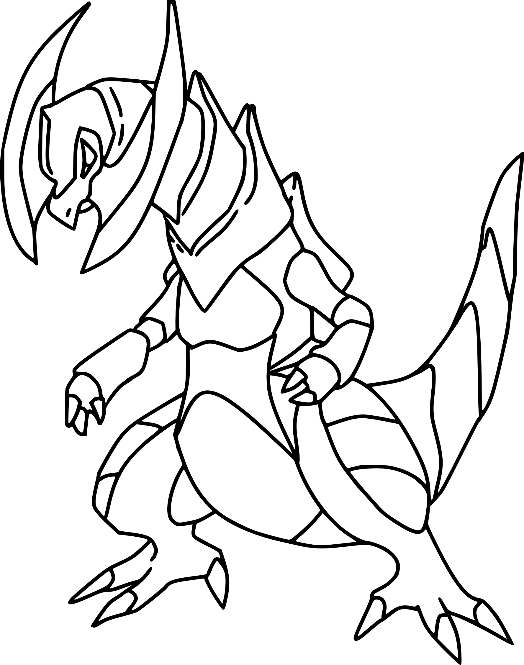 Pokemon coloring pages haxorus - View Larger Image Image