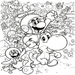 Coloriage Mario 3d land