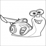 Coloriage Coloriage turbo l'ecargot