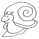 Coloriage Escargot marrant