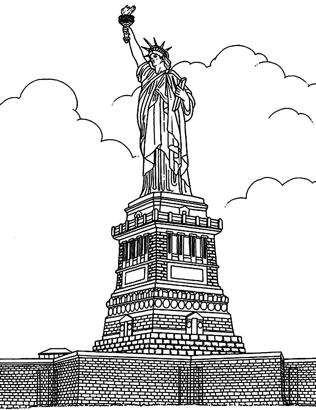 free new york coloring pages - photo#6