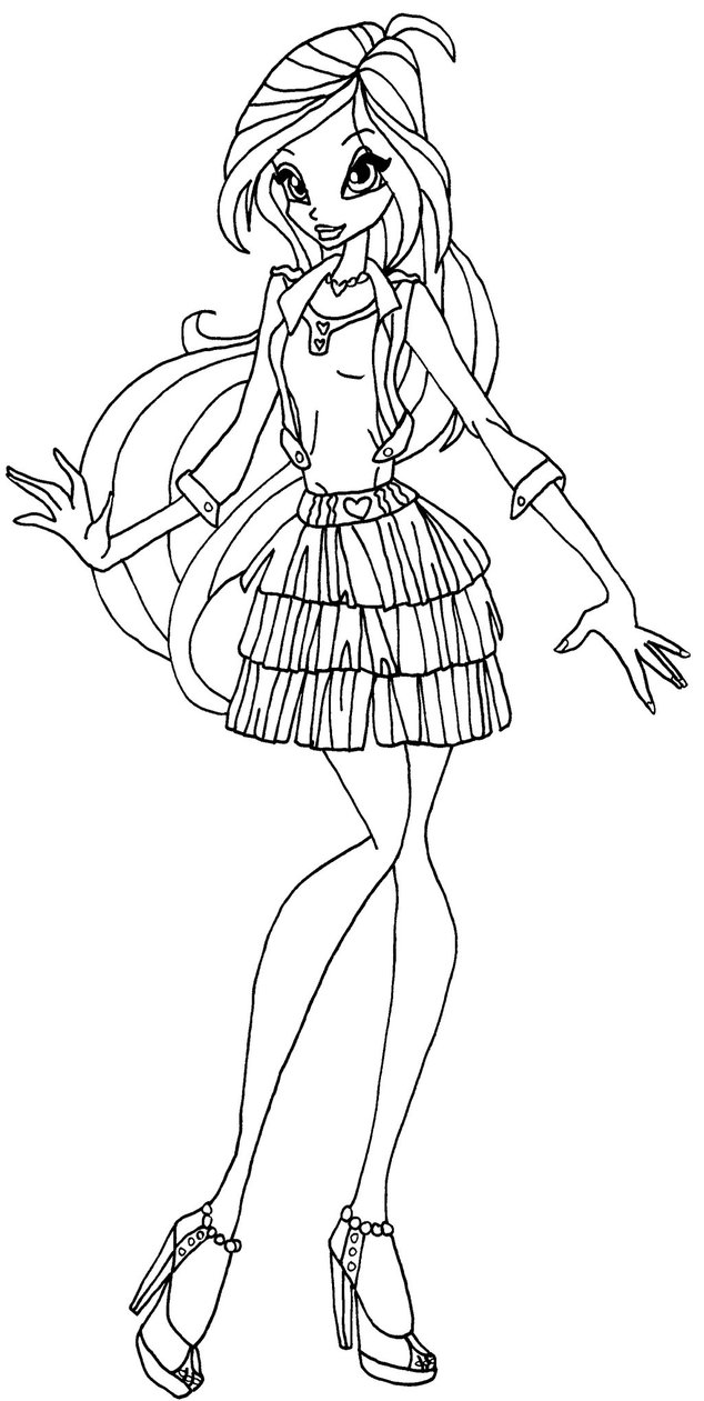 Coloriage bloom winx club imprimer sur coloriages info - Coloriage winx bloom ...