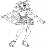 Coloriage Bloom Winx Club
