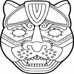 Coloriage Masque de Jaguar