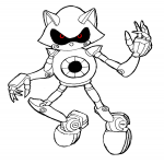 Coloriage Sonic robot