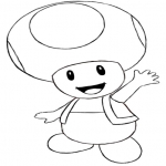 Coloriage Toad