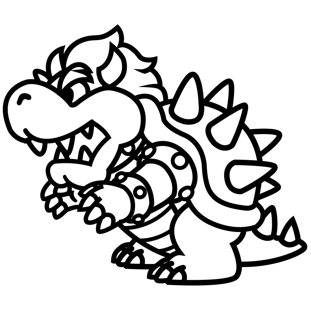 coloriage bowser dessin imprimer sur coloriages info. Black Bedroom Furniture Sets. Home Design Ideas