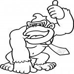 Coloriage Donkey Kong dessin