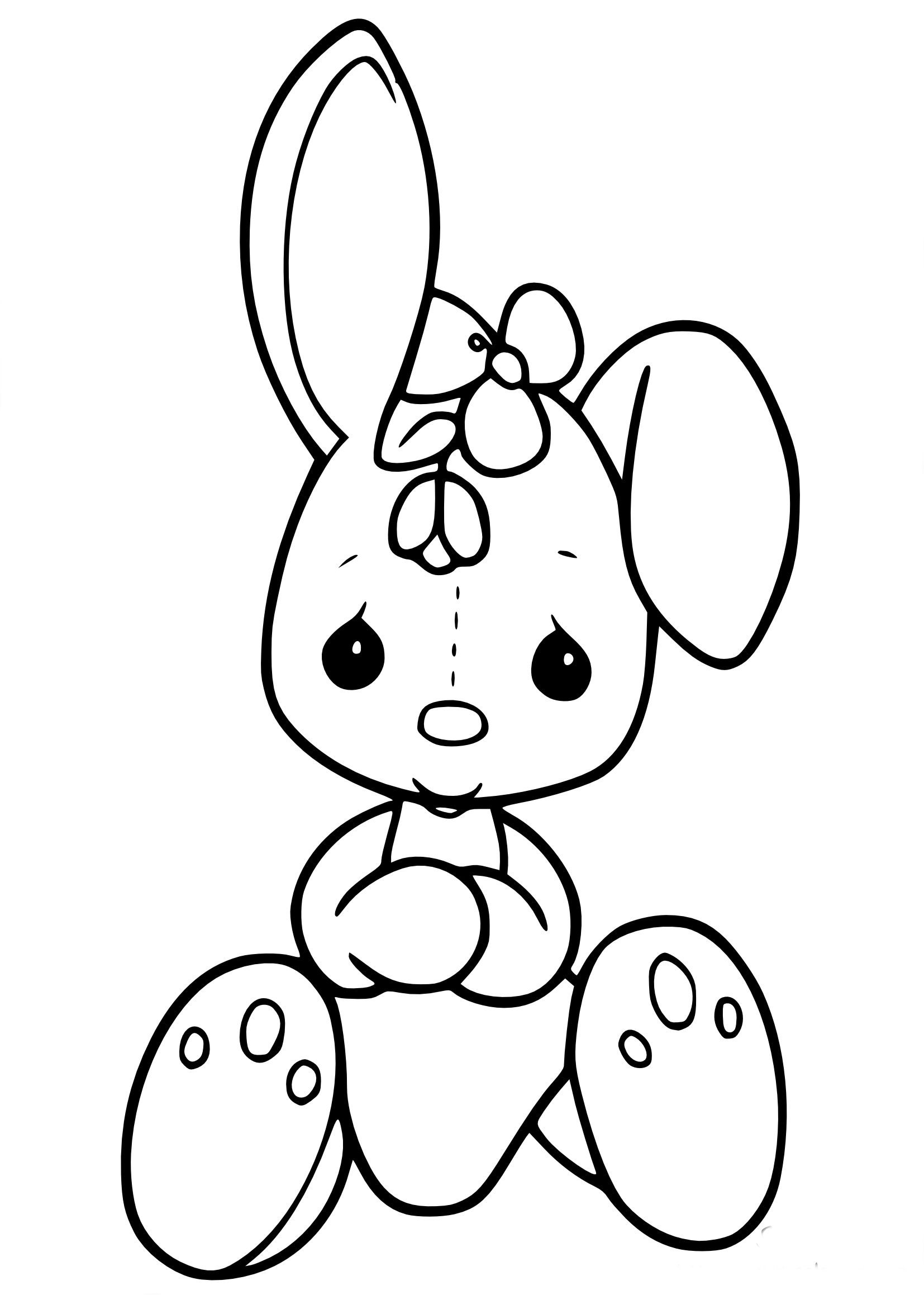 Bunny rabbit coloring pages printable sketch coloring page - Coloriages lapin ...