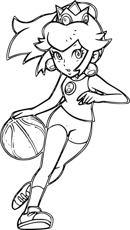 Peach joue au basketball