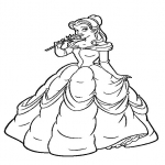 Coloriage Princesse Belle Disney