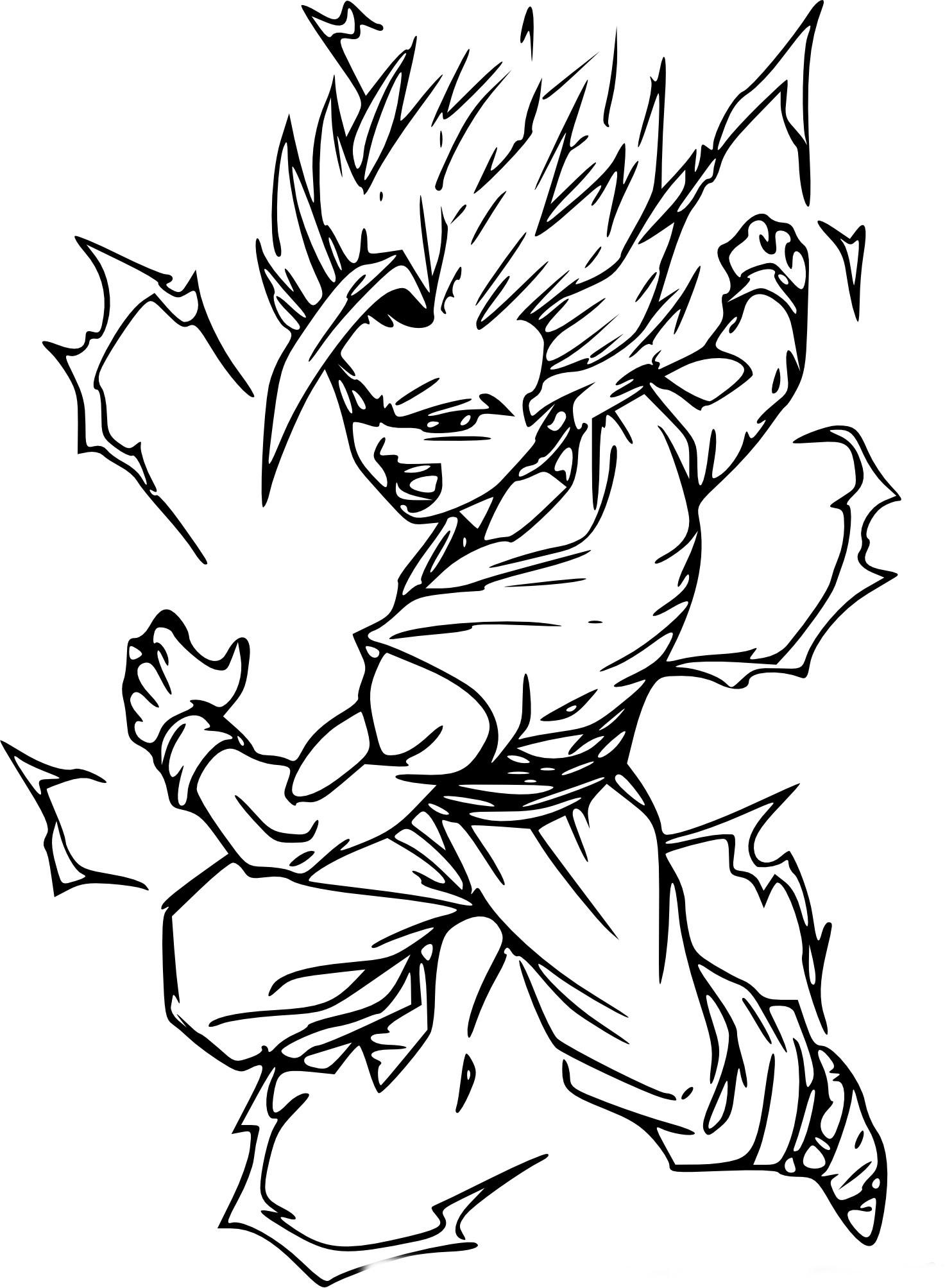 Coloriage sangohan super sayen imprimer sur coloriages info - Dessin de dragon ball super ...