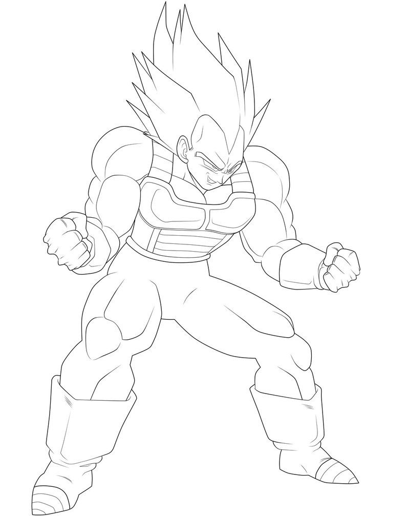 Coloriage vegeta super sayen imprimer sur coloriages info - Dessin de vegeta ...