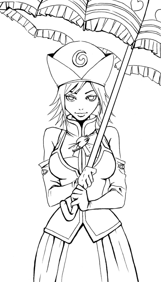 Coloriage fille de fairy tail imprimer sur coloriages info - Fille fairy tail ...