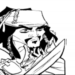 Coloriage Pirate Jack Sparrow