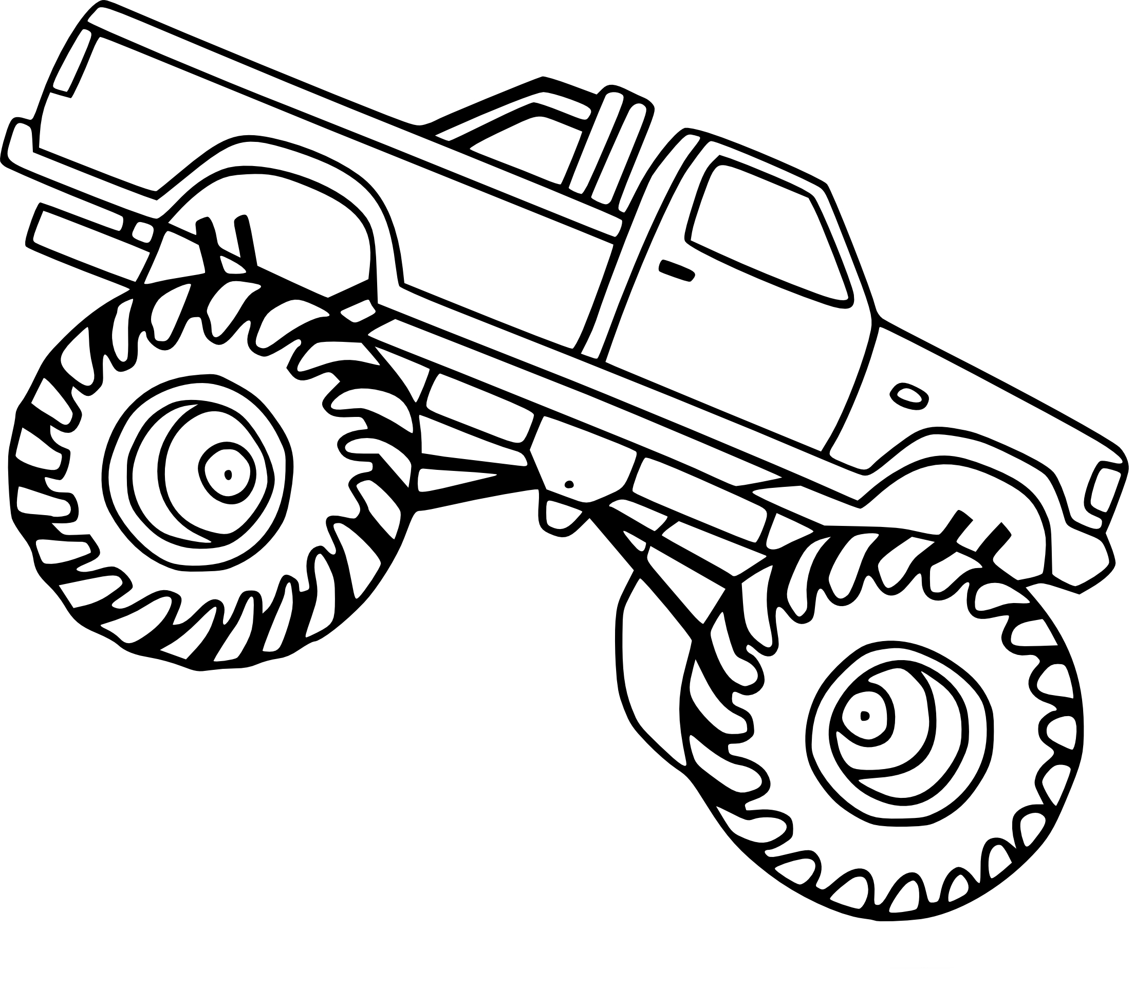 Coloriage Monster Truck facile à imprimer sur COLORIAGES .info
